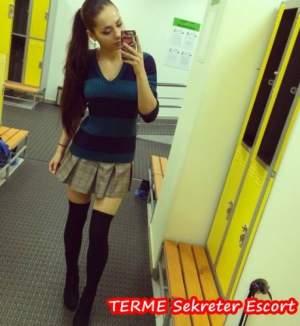 Terme Sekreter Gibi Giyinerek Gelen Uzun Escort Asuman